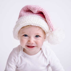 Santa Pink Sparkle Stocking Hat - Huggalugs-Beanie Hats