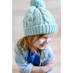 Seaglass Cable Beanie - Huggalugs-Beanie Hats