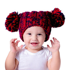 Spirit Navy and Red Beanie Hat - Huggalugs-Beanie Hats