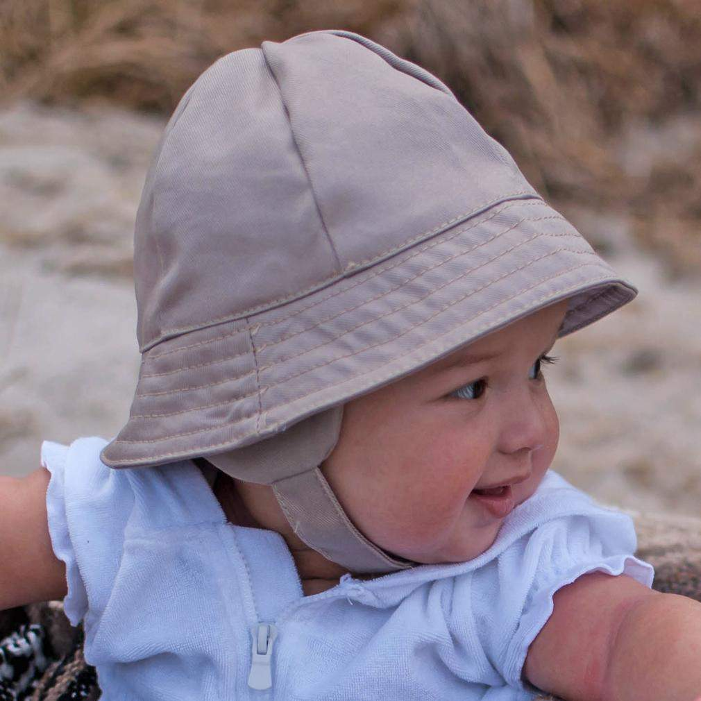 Tyrolean Sand UPF 50+ Hat with Chinstrap - Huggalugs-Sunhat