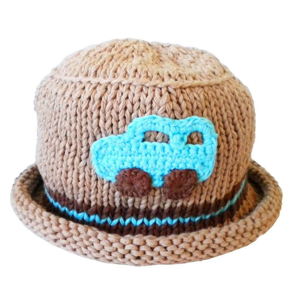 Wheels Car Hat - Huggalugs-Beanie Hats