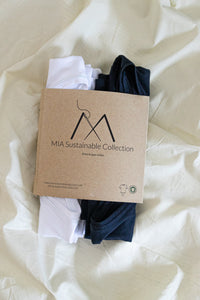 Pack camisetas 100% algodón orgánico MIA Sustainable Collection