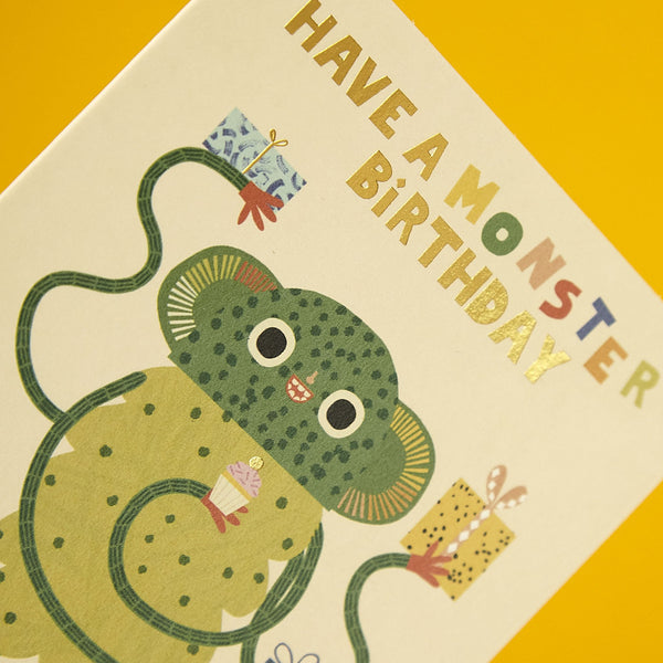 Fun monster children's Birthday card