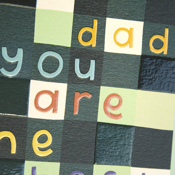 'Dad you are the best' contemporary card
