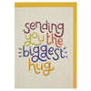 Colourful 'sending you the biggest hug' everyday card