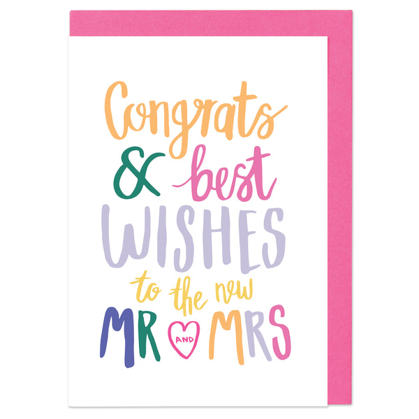 Congrats & best wishes to the new Mr & Mrs