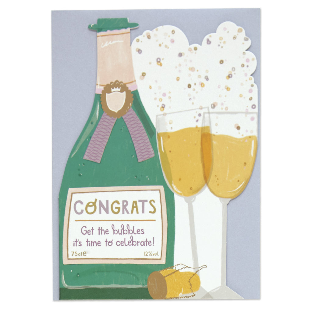 Congrats - get the bubbles it's time to celebrate!