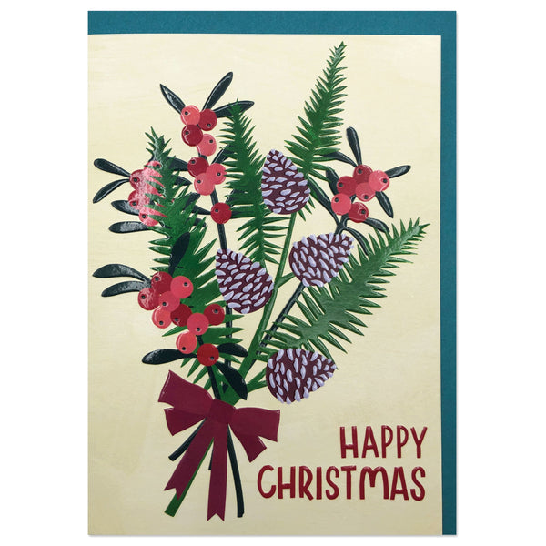 'Happy Christmas' Luxury Christmas Bouquet Card
