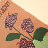 'Happy Anniversary' colourful anthurium anniversary card