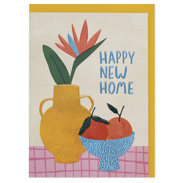 'Happy new home' bird of paradise luxury new home card
