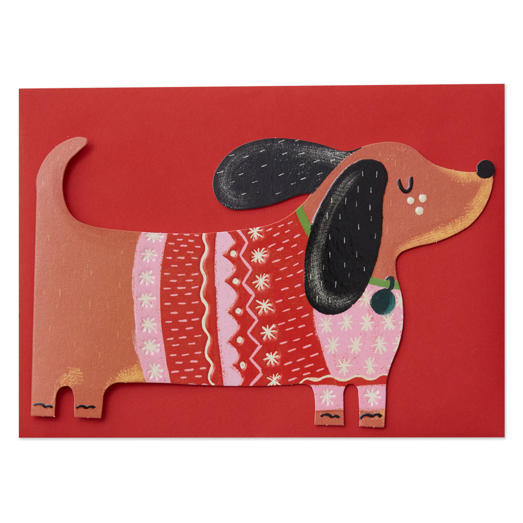 Dachshund in Christmas Jumper Card