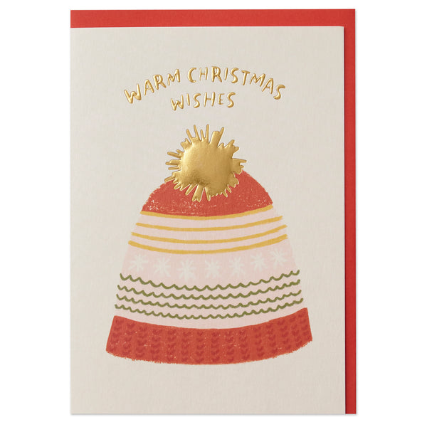 'Warm Christmas Wishes' Christmas Card