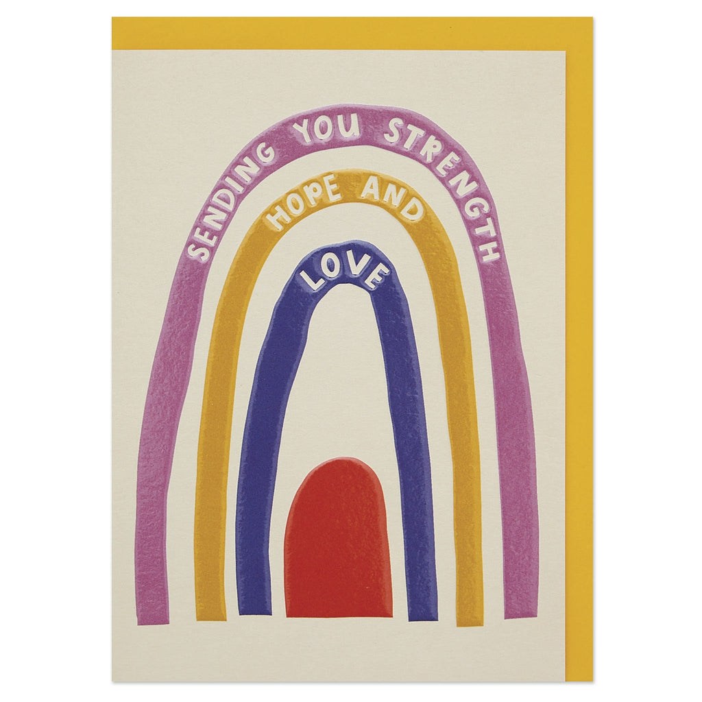 'Sending you hope and strength' modern thinking of you card