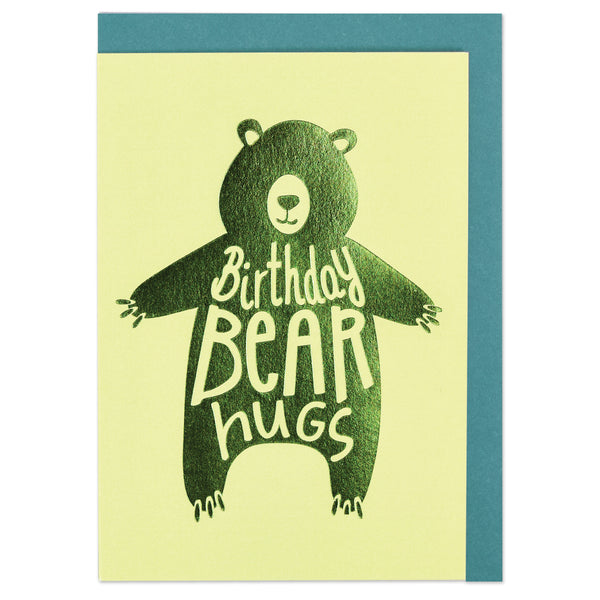 Birthday bear hugs Card