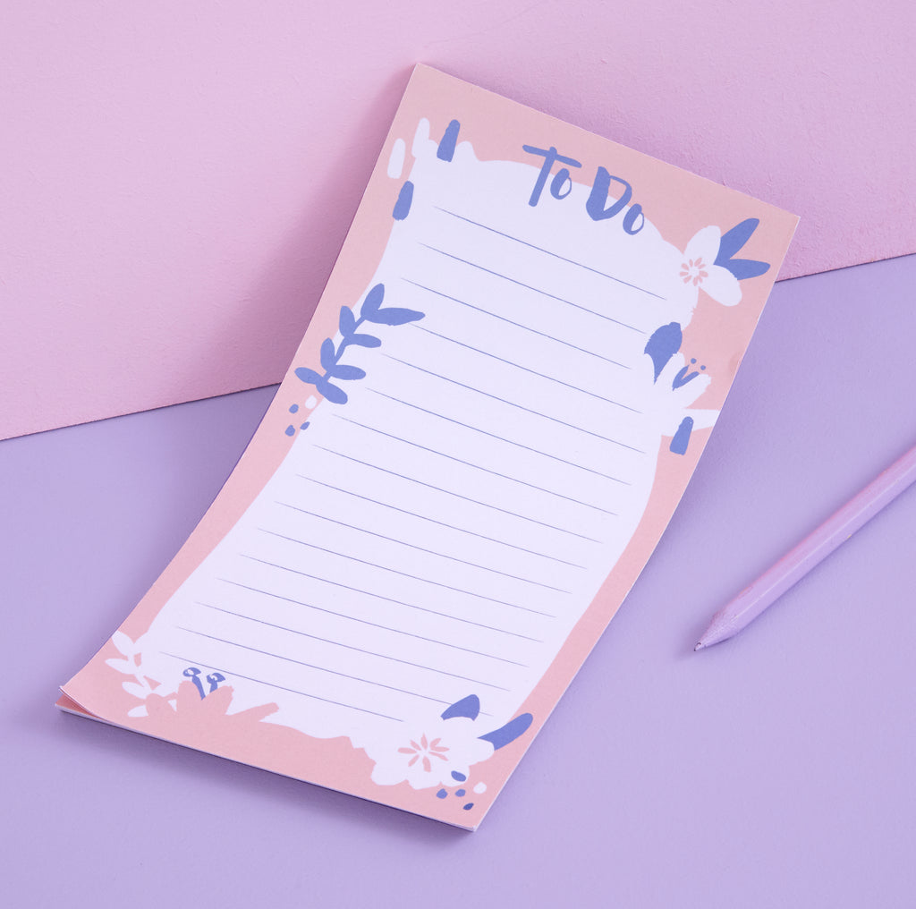 Blossoming Blooms list pad - pink to do