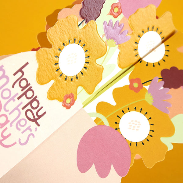 3D fold-out 'Happy Mother's Day' Flowers Card