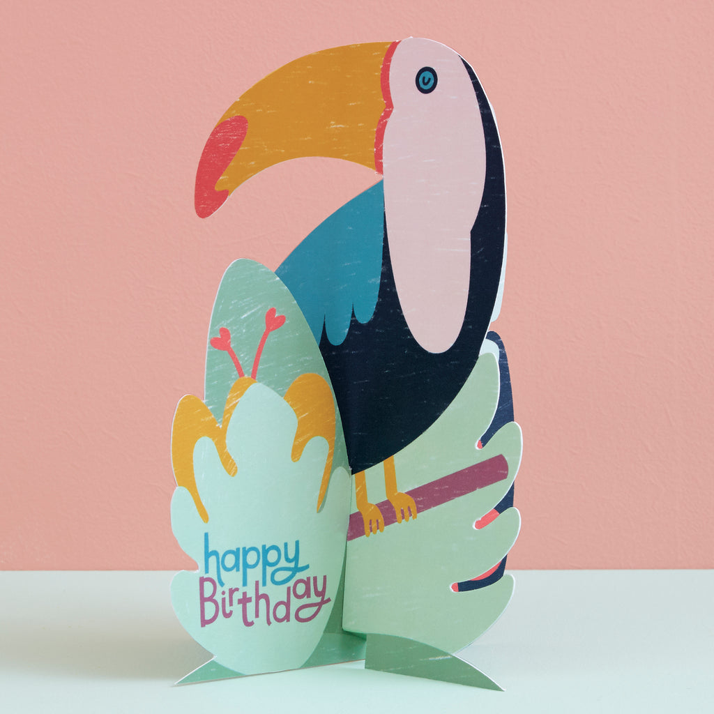 'Happy Birthday' 3D Fold-out Toucan Birthday Card