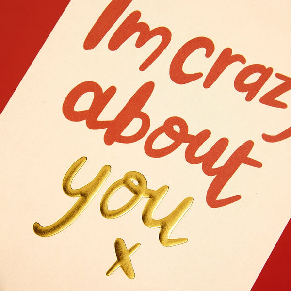 'I'm crazy about you' Valentine's Day card