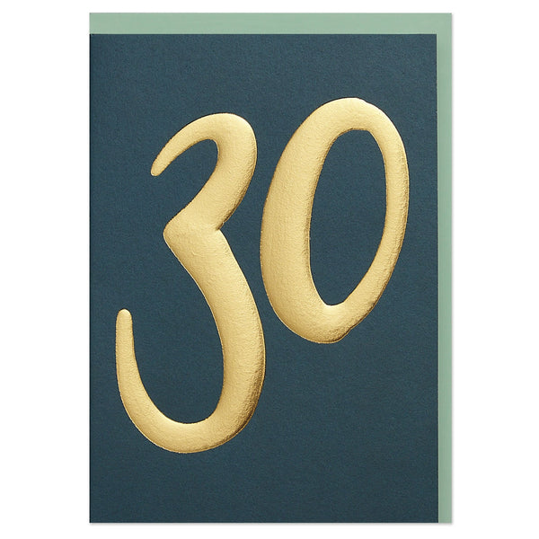 Luxury golden age 30 Birthday card