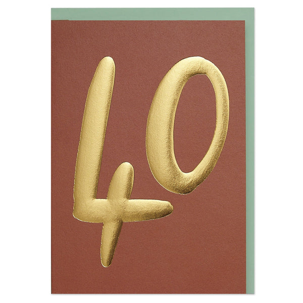Luxury golden age 40 Birthday card
