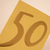 Luxury golden age 50 Birthday card
