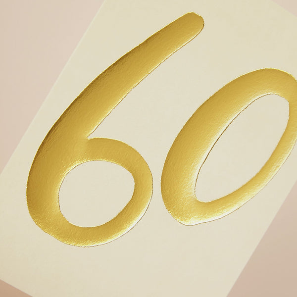 Luxury golden age 60 Birthday card