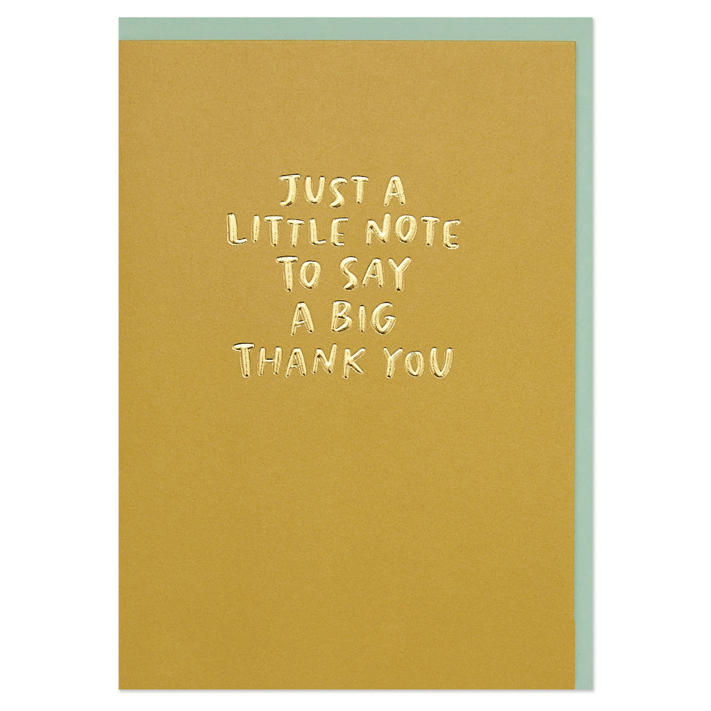 'Just a little note to say a big thank you' Thank You set
