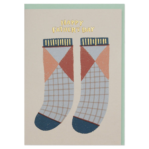 'Happy Father's Day' playful sock Father's Day card