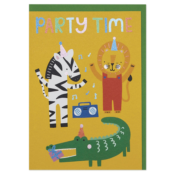 Animal 'Party Time' children's Birthday card