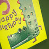 Happy smiling age 5 children's Birthday card