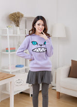 Load image into Gallery viewer, Winter Cartoon Zipper Mouth Smile Cat Shoulder 3D Ear Jumper Pullover Sweatshirt Family Fitted Children Adult Top 6Color