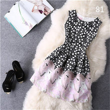 Load image into Gallery viewer, Free shipping more colors,printing sleeveless women dress sexy midi Ball gown party dress robe femme,sweet style neck tank dress
