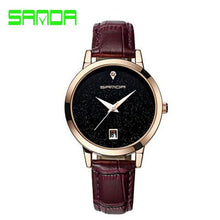 Load image into Gallery viewer, SANDA brand quartz watch ladies waterproof leather watch watch fashion romantic woman watch Relogio Faminino