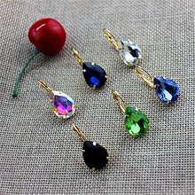 Load image into Gallery viewer, Hot new women jewelry Girl Birthday Party beautiful black and white green blue color ear hook Style Earrings FREE SHIPPING