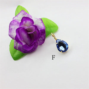 Hot new women jewelry Girl Birthday Party beautiful black and white green blue color ear hook Style Earrings FREE SHIPPING