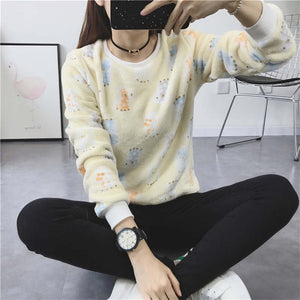 new Brand 2017 Harajuku Cute panda harajuku hoody sweatshirt for Women  Fashion spring winter high quality Flannel pullover tops