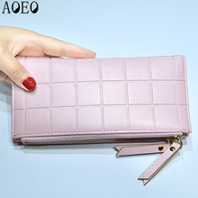 Load image into Gallery viewer, AOEO Womens Wallets and Purses Ladies Long 2 Zipper Coin Pocket 5.5 Phone Lady 10 Card Holder pu Leather Red Girls Wallet Female