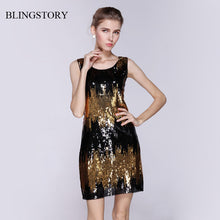 Load image into Gallery viewer, BLINGSTORY European style women's Sequin dresses evening party clubwear vestidos de festa dropshipping