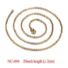 Load image into Gallery viewer, Vnox DIY Chain Necklace Stainless Steel Women Men Jewelry Snake Round Beads for Pendant Accessories