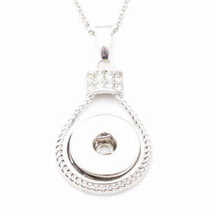 New arrive snap button necklace, snap pendant for 18mm snap (with free 50cm chain) ND5239