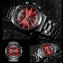 Load image into Gallery viewer, LAGMEEY Famous Brand Black Metal Watch Quartz Men Stainless Steel Sport Watches Men Waterproof Clock Male 2017 Relogio Masculino