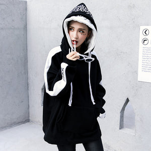 Women Warm Hoodies Hip Hop Fashion Cotton Headwear Sweatshirts Women Hoodies Us size S-XL