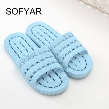 Load image into Gallery viewer, Bath room slipper women men slides flat with sofe new household slippers seasons shower is leaking slippers for men and women