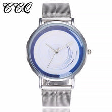 Load image into Gallery viewer, CCQ Brand Stainless Steel Silver Mesh Band Creative Quartz Watch Casual Women Fashion Simple Watch Relogio Feminino Hot