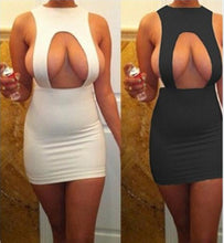 Load image into Gallery viewer, 2018 Summer Women Sleeveless Sexy Off  Front Slit Sheath Fashion Slim Casual Party Club Bodycon Mini Dress