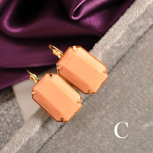 Load image into Gallery viewer, New fashion women, girls, black and white, yellow, purple, red green, gray, ear, hook, geometric Gift Earrings, agent shipping