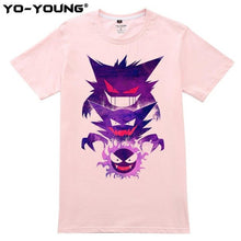 Load image into Gallery viewer, POKEMON T Shirts Men Gastly Haunter Gengar Design Digital Printing 100% 180 gsm Combed Cotton Top Tees Short Sleeve Customized