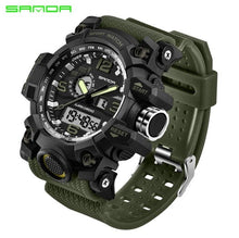 Load image into Gallery viewer, SANDA New S Shock Men Sports Watches Big Dial Sport Watches For Men Luxury Brand LED Digital Military Waterproof Wrist Watches