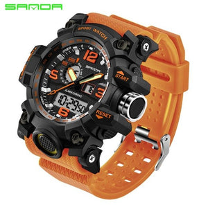 SANDA New S Shock Men Sports Watches Big Dial Sport Watches For Men Luxury Brand LED Digital Military Waterproof Wrist Watches