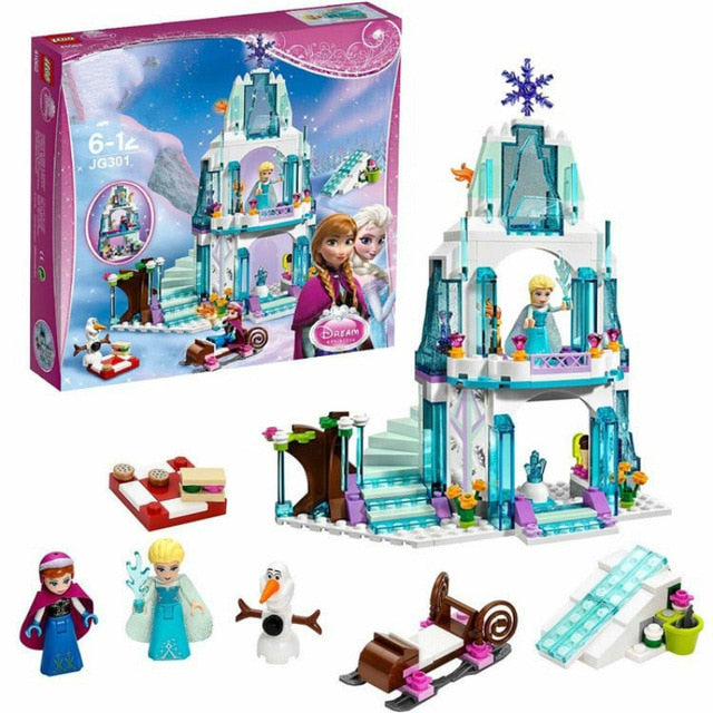 37001 Princess Belles Enchanted Castle Building Blocks for Girl Friends Kids Model Marvel Compatible with Legoe Toys Gift